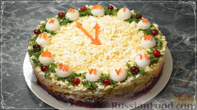 """Фото к рецепту: Cалат """"Новогодняя ночь"""" с сельдью"""
