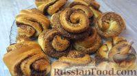 Фото к рецепту: Сдобные булочки с корицей и сахаром