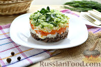 Фото к рецепту: Слоеный салат с языком