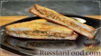 Фото к рецепту: Гренки с сыром, на завтрак