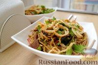 Фото к рецепту: Лапша по-корейски (чапчхэ)
