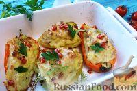 Фото к рецепту: Болгарский перец, фаршированный картофелем