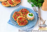 Фото к рецепту: Кукурузные оладьи с йогуртовым соусом