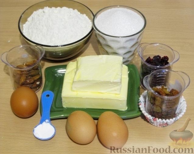 Фото приготовления рецепта: Маффины с изюмом, клюквой и миндальной крошкой - шаг №1