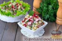 Фото к рецепту: Мясной салат с огурцами