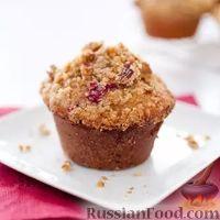 Фото к рецепту: Кексы с клюквой и орехами