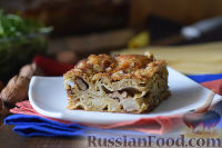 Фото к рецепту: Лазанья с картофелем и грецкими орехами
