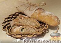 Фото к рецепту: Ржаные багеты со сливочным маслом и чесноком