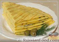 Фото к рецепту: Тортилья с сыром и зеленью