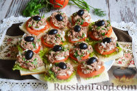Фото к рецепту: Сэндвичи с тунцом