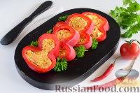 Фото к рецепту: Закуска из перца, фаршированного сыром