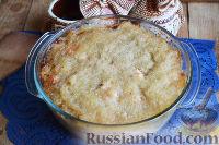 Фото к рецепту: Картофельная запеканка с колбасками и курицей