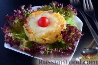 Фото к рецепту: Куриные медальоны с ананасами и сыром