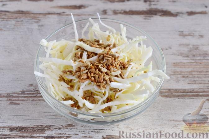 как приготовить капустный салат с семечками