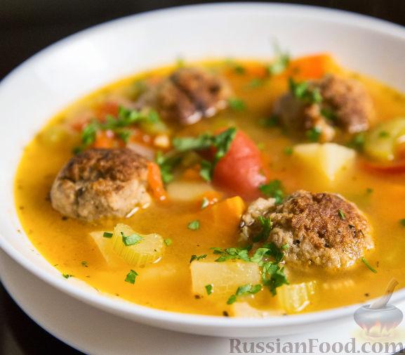 суп с фрикадельками рецепт с фото из фарша