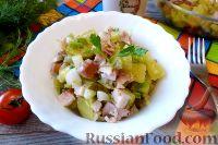 Фото к рецепту: Салат с копченой курицей и картофелем