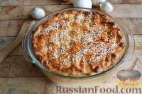 Фото к рецепту: Американский пирог с курицей и грибами