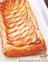 Фото к рецепту: Слоеный пирог с яблоками