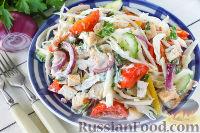Фото к рецепту: Овощной салат с курицей