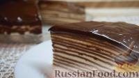 Фото к рецепту: Шоколадный блинный торт