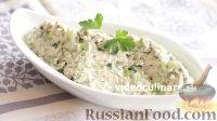 Фото к рецепту: Салат из риса, с курицей