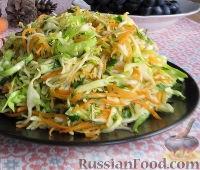 Фото к рецепту: Зимний салат из репы, моркови и капусты