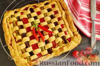 Фото к рецепту: Итальянский пирог с ветчиной и овощами