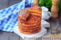Фото к рецепту: Сырные булочки (лепешки) с морковью
