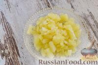 """Фото приготовления рецепта: Закусочный """"Наполеон"""" с сыром, ветчиной и ананасом - шаг №9"""