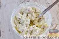 """Фото приготовления рецепта: Закусочный """"Наполеон"""" с сыром, ветчиной и ананасом - шаг №11"""