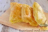 """Фото приготовления рецепта: Закусочный """"Наполеон"""" с сыром, ветчиной и ананасом - шаг №4"""