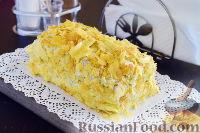 """Фото приготовления рецепта: Закусочный """"Наполеон"""" с сыром, ветчиной и ананасом - шаг №16"""