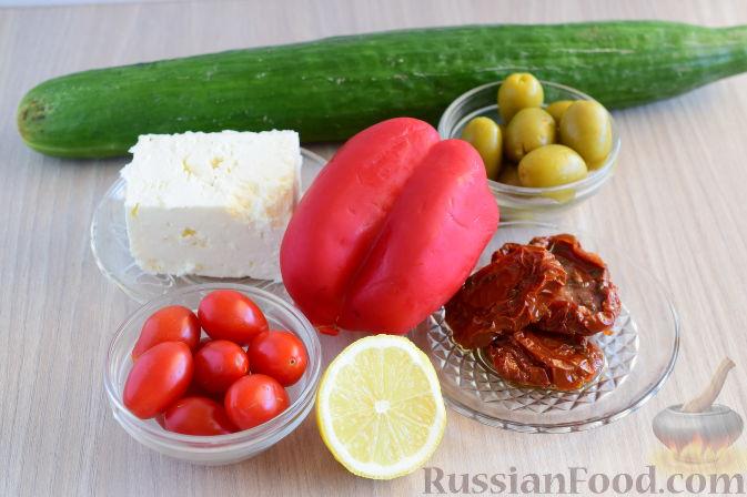 Фото приготовления рецепта: Рулетики из огурцов - шаг №1