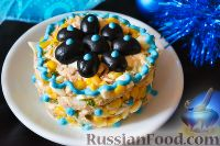 Фото к рецепту: Салат с тунцом и кукурузой