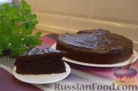 Фото к рецепту: Шоколадно-трюфельный торт