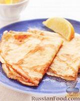 Фото к рецепту: Блины с сахаром и лимоном