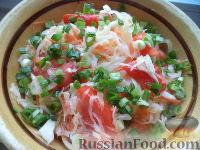 Фото к рецепту: Салат из белокочанной капусты, помидоров и моркови