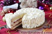 Фото к рецепту: Бисквитный торт с джемом и сливочным кремом
