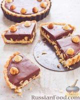Фото к рецепту: Тарт с шоколадно-ореховой начинкой