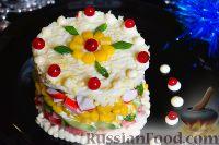 Фото к рецепту: Слоеный салат с кукурузой