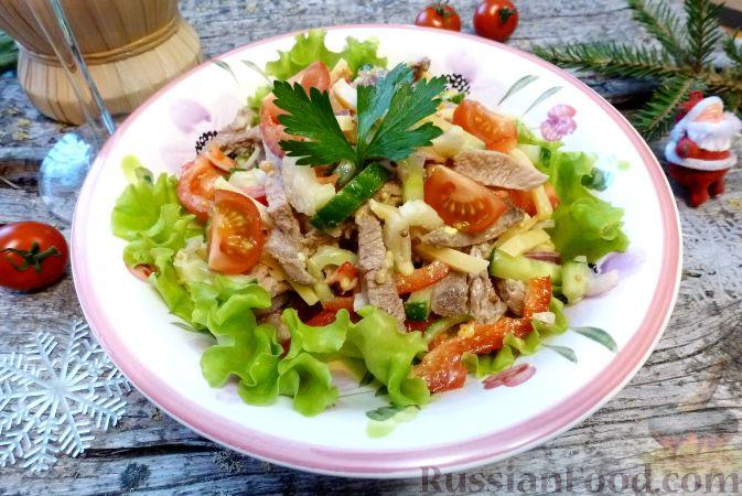 Фото к рецепту: Мясной салат со сладким перцем