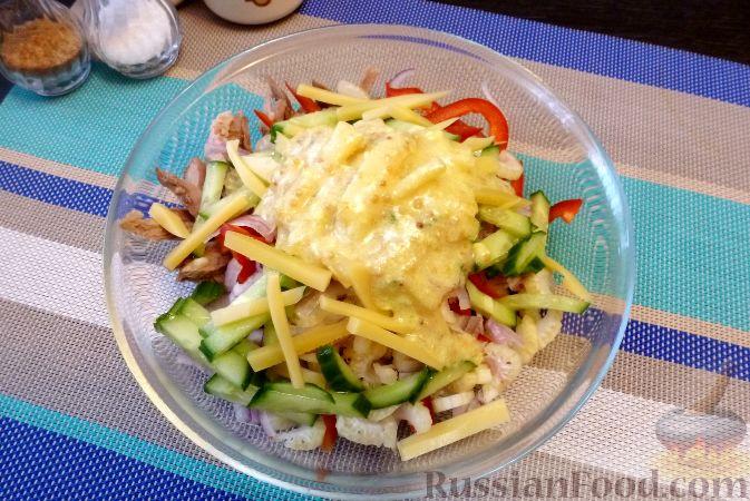 Фото приготовления рецепта: Мясной салат со сладким перцем - шаг №15