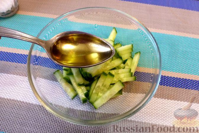 Фото приготовления рецепта: Мясной салат со сладким перцем - шаг №4