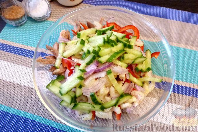 Фото приготовления рецепта: Мясной салат со сладким перцем - шаг №13