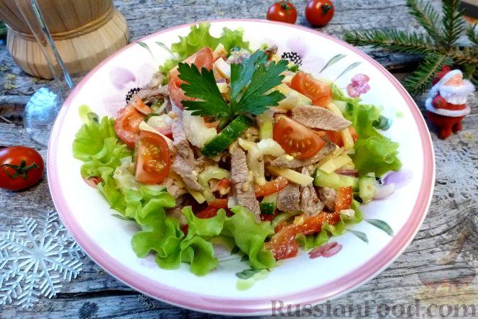 Фото приготовления рецепта: Мясной салат со сладким перцем - шаг №16