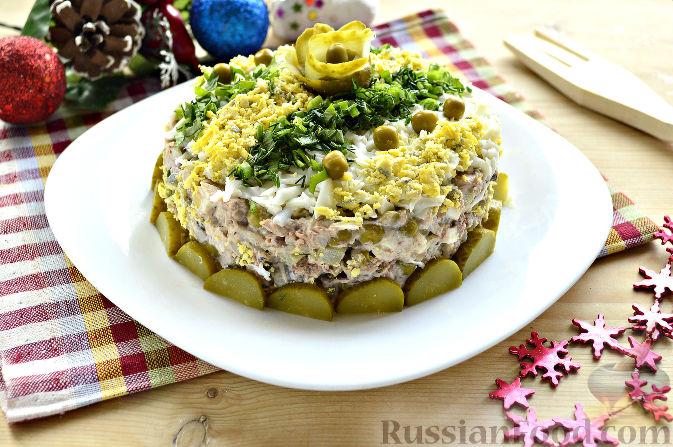 салат с рисом и тунцом консервированным рецепт с пошаговым фото