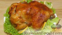 Фото к рецепту: Курица, запеченная в рукаве