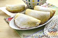 Фото к рецепту: Пирожки из творожного теста, с малиновым джемом