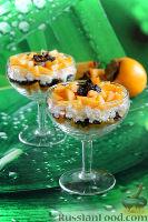 Фото к рецепту: Десерт из творога, хурмы и чернослива