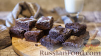 Фото к рецепту: Брауни (два варианта - классический и веганский)